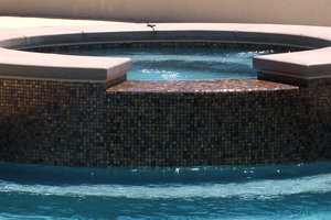 Spa with Waterline Tile